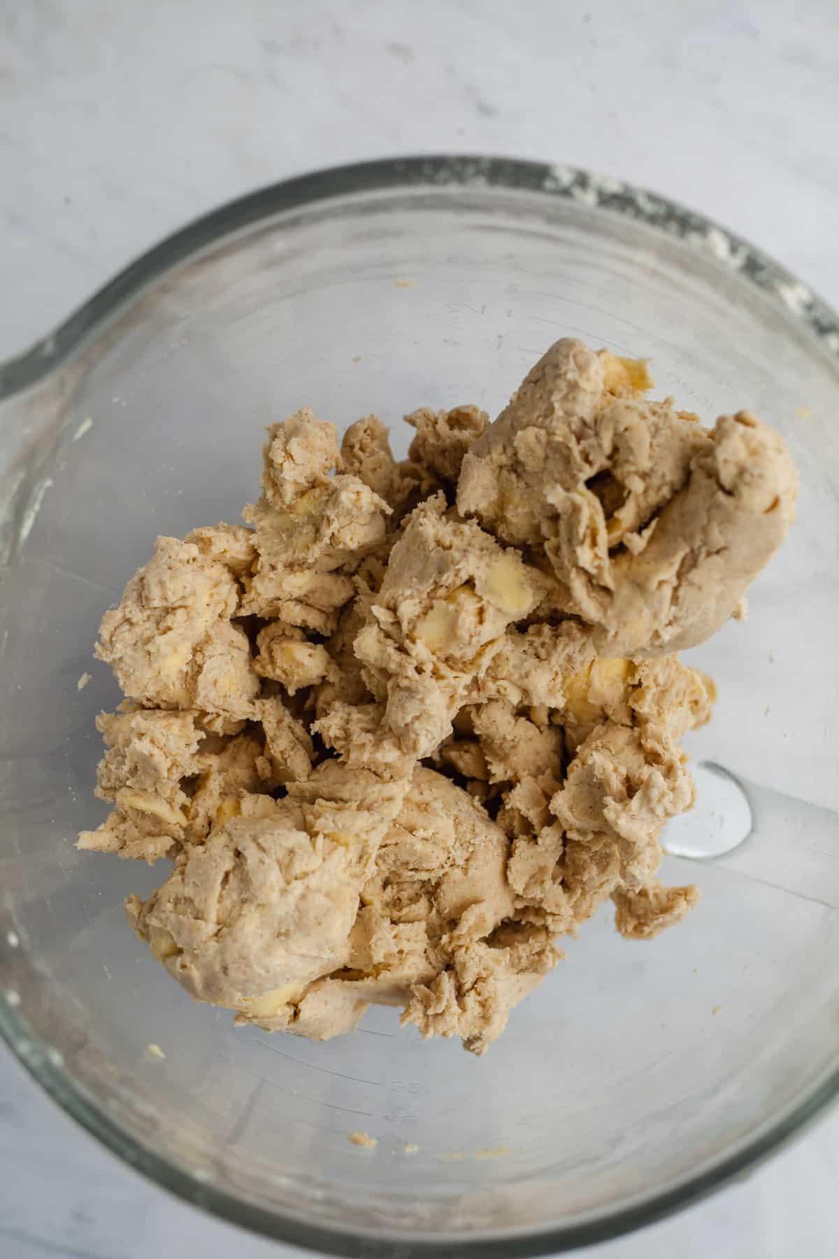 cinnamon pie dough in a bowl