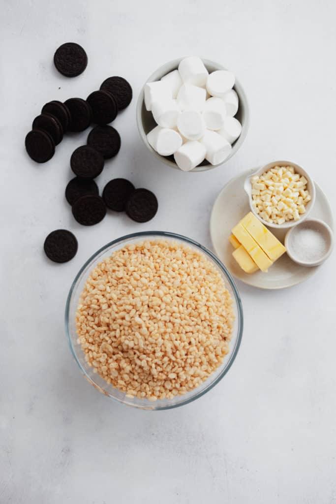 Ingredients needed for oreo rice krispie treats