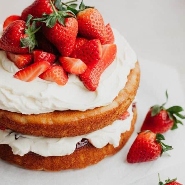 Strawberry Filled Cake