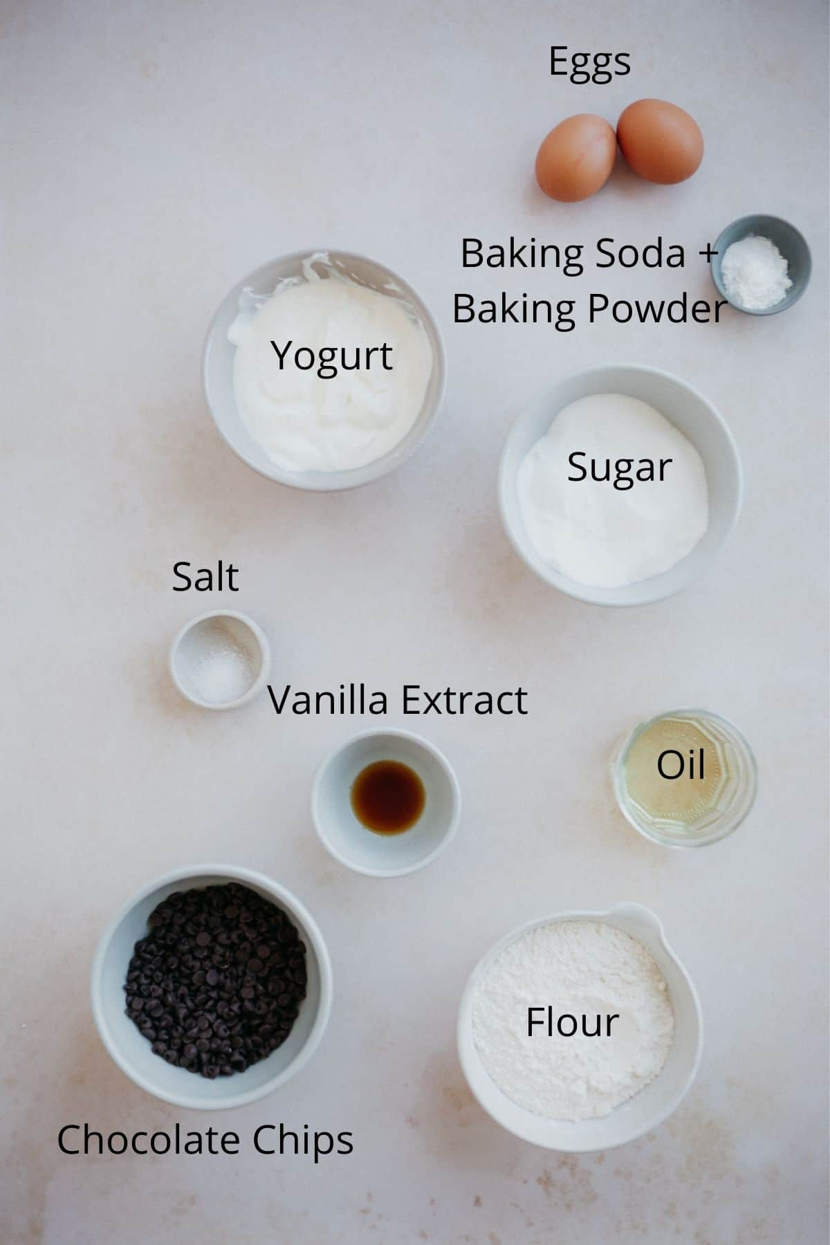 Ingredients needed for this loaf cake recipe