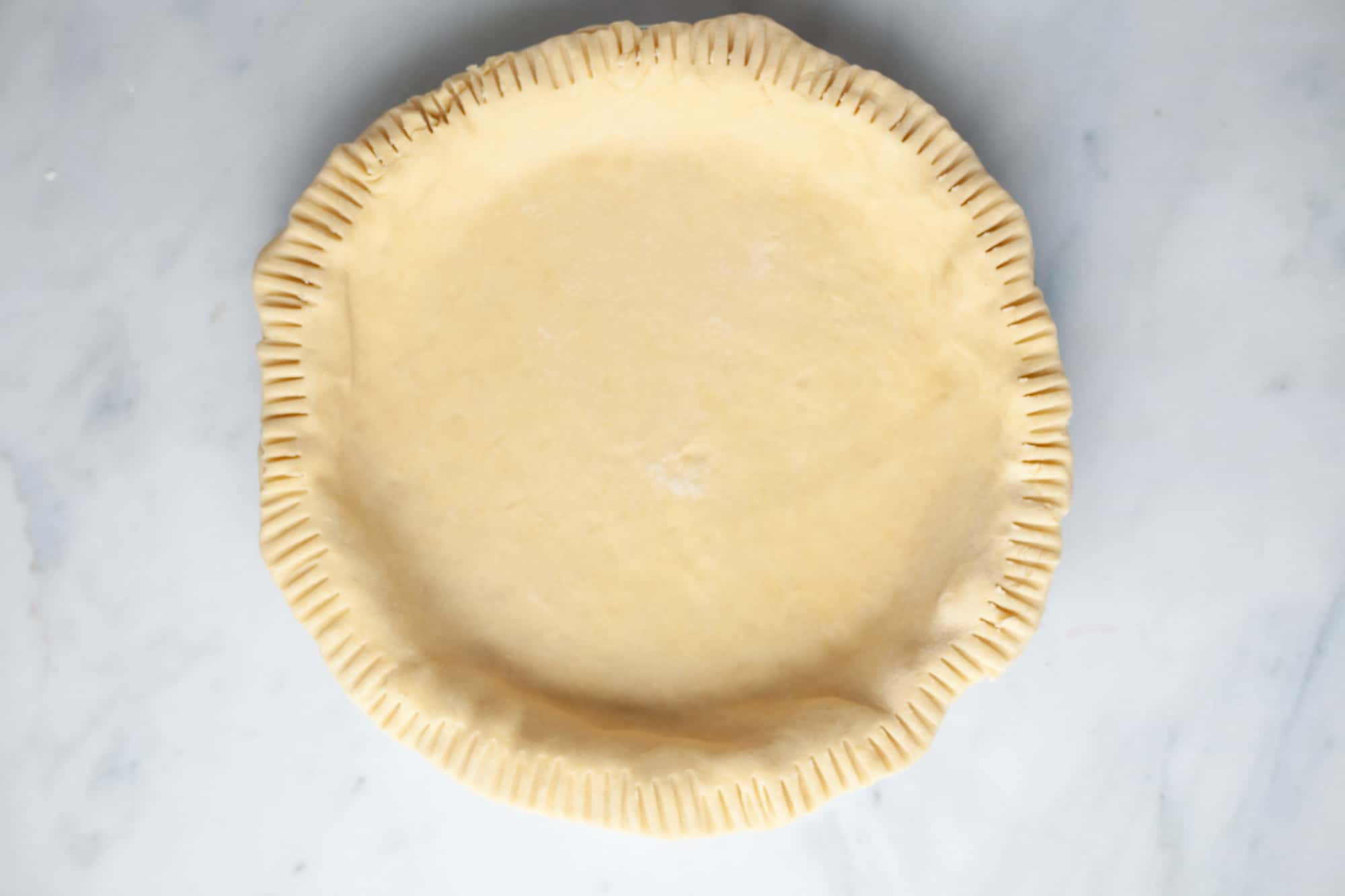 An unbaked pie without a filling