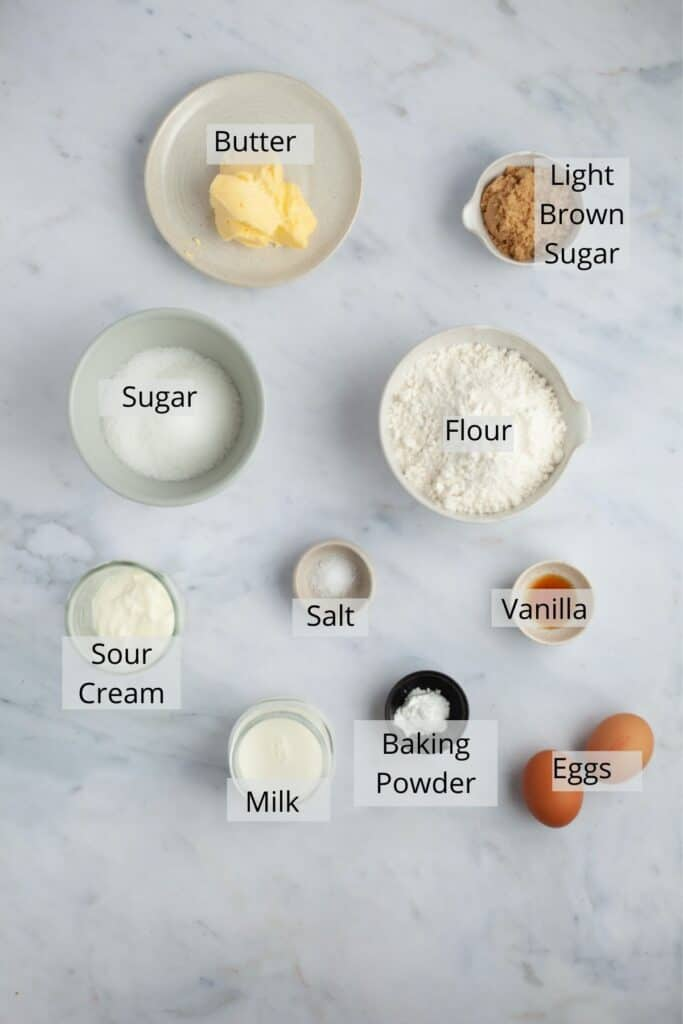 ingredients needed for coffee cake