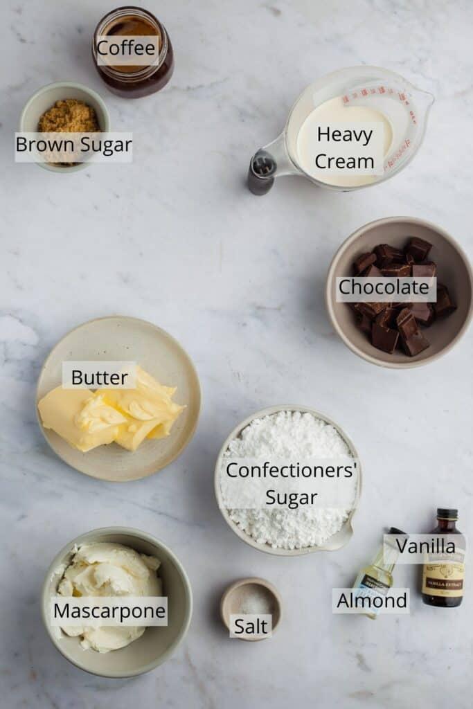 ingredients needed for tiramisu frosting