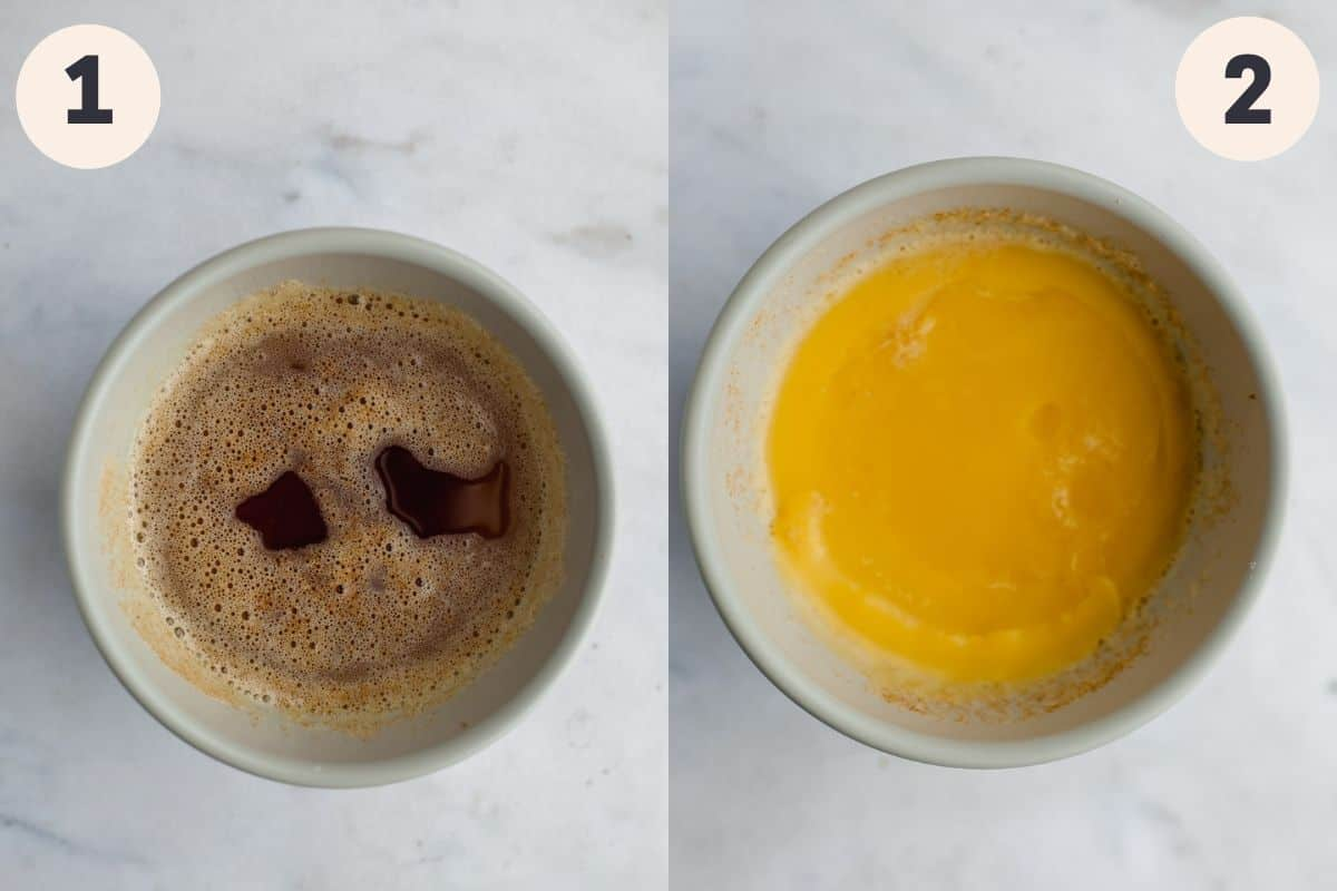 step by step process on how to brown butter and then chill it